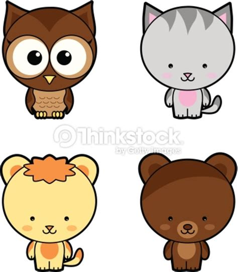 imagenes de tigres kawaii baby animal set vector art thinkstock