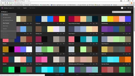 themes colour palette a cool tool for color scheme experimentation