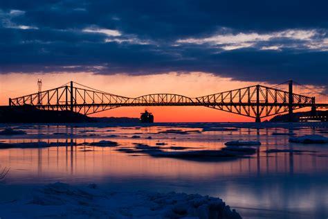 pont de quebec pierre laporte bridges quebec  flickr
