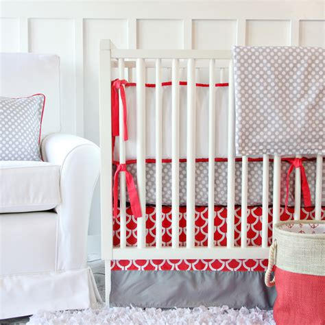 Gray And Coral Crib Bedding Giveaway Caden Lane Crib Bedding Set Project Nursery