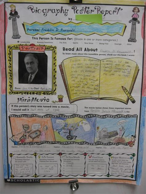 biography book report scholastic biography posters from scholastic are a great way to