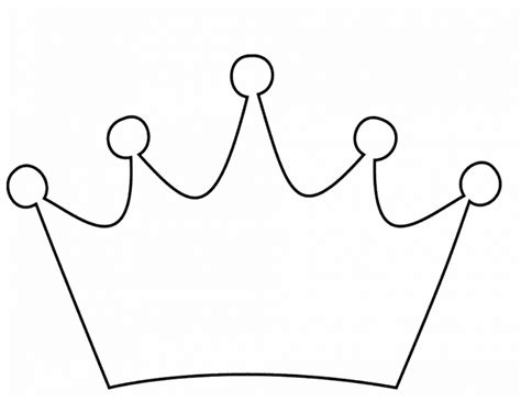 simple crown coloring page easy crown coloring pages