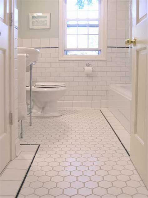 bathroom floor tiling ideas 34 white hexagon bathroom floor tile ideas and pictures