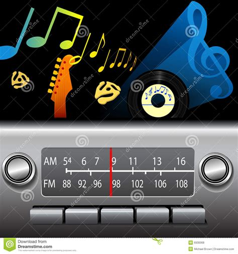 fm music station am fm drive time dashboard radio music broadcast royalty