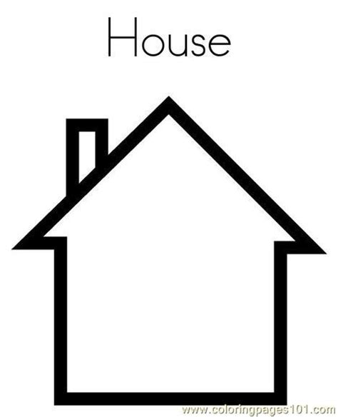 shape of house free house shape coloring pages