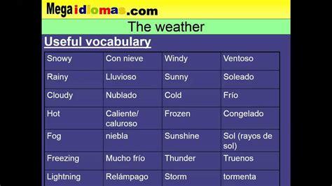 imagenes de weather en ingles el tiempo en ingl 233 s the weather youtube