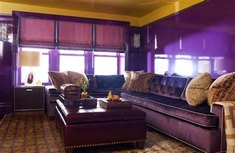 purple and gold room purple sectional contemporary living room s r gambrel