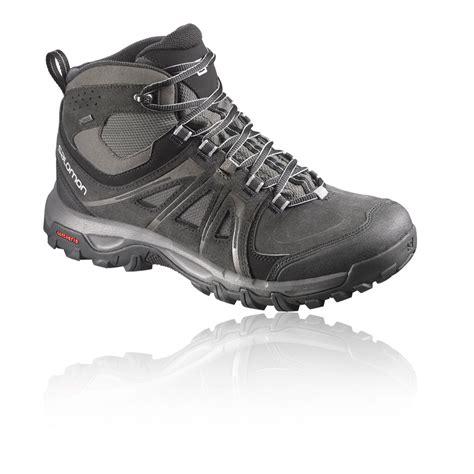mens salomon walking boots salomon evasion mid mens grey waterproof tex walking