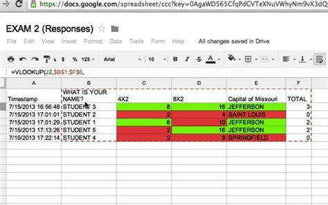 How To Use Docs Spreadsheets by 4 How To Use The Quot Vlookup Quot Function To Organize Grades In