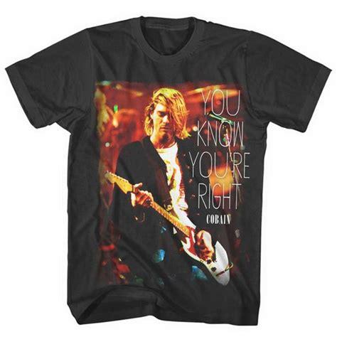 Kaos Nirvana Kurt Cobain 2 Gildan Tshirt kurt cobain t shirt you you re right for only 163 15 84