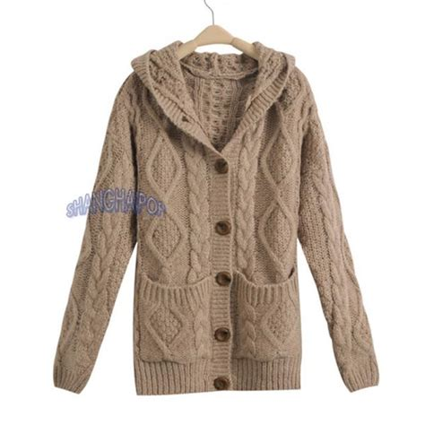 chunky knit hooded cardigan hooded cardigan cable knit chunky jumper sleeve