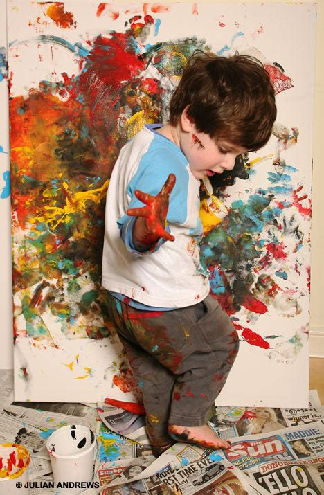 painting free to play toddler fools the world into buying his tomato ketchup