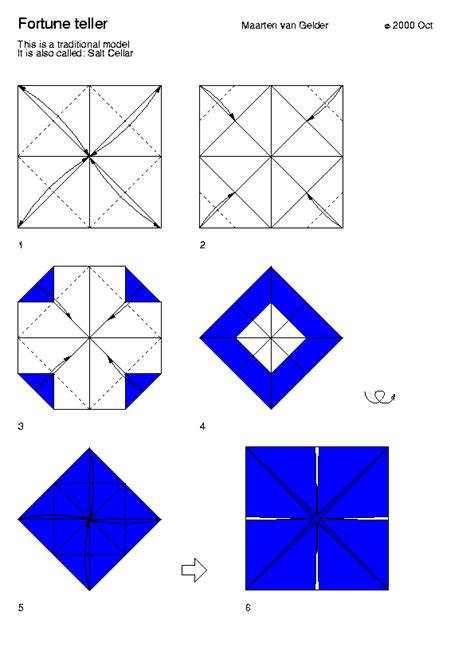 Make Fortune Teller Origami - origami fortune teller template quotes