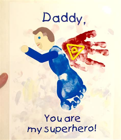 fathers day footprint s day card handprint my toddler s