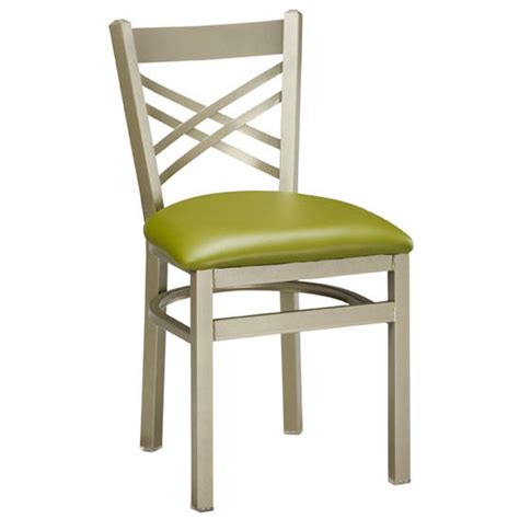 Steel Frame Dining Chairs Regal Seating 515 Steel Frame Dining Chair With X Back