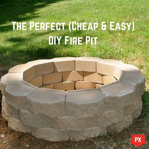 how to make a backyard fire pit cheap cheap fire pit ideas your weekend project the perfect