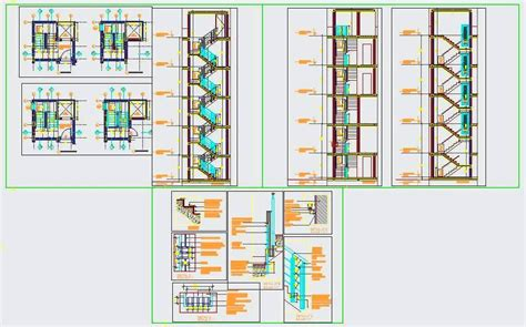 layout of multi storey building structure detail of r c c staircase for multi storey