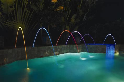 inground pool fountains led ring light floating fountain inground pool lights