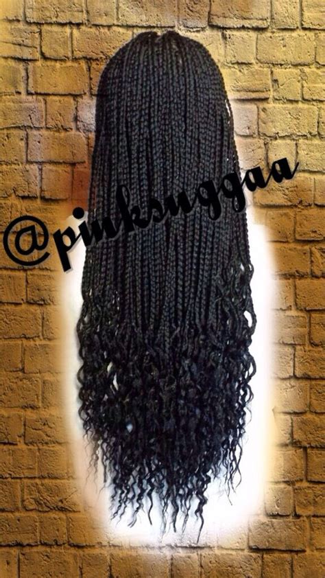 braids that are curly at the ends box braids wavy ends inspiration for my hair a k a box
