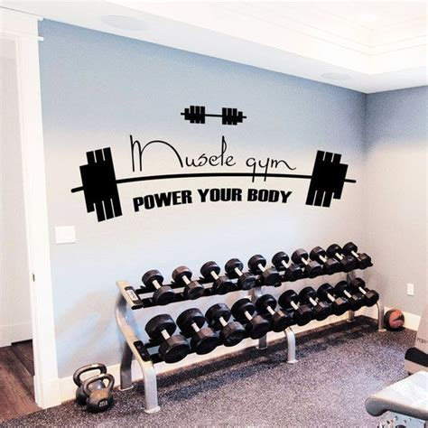 home gym wall decor gym decor power your body vinyl sticker wall art home