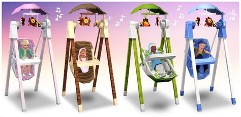 swing objects solace snugabunny deluxe baby swing store the sims 3