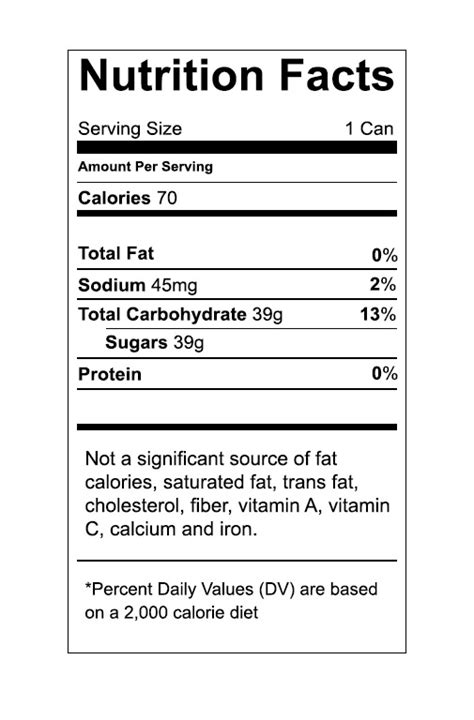 Vector Food Nutrition Label Trashedgraphics Nutrition Chart Template