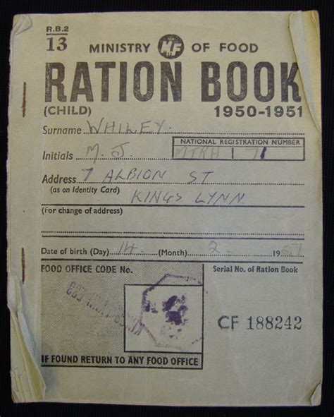 rationing book template u boats rationing e2bn gallery