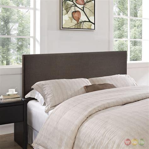 brown upholstered headboard region modern plain queen upholstered headboard dark brown