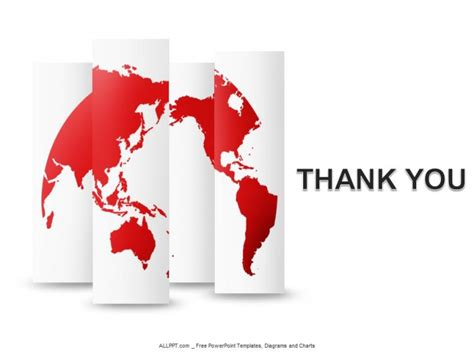 thank you templates for ppt free thank you template for ppt red world map powerpoint