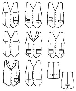 printable vest pattern simplicity 2870 men lined vest project runway collection