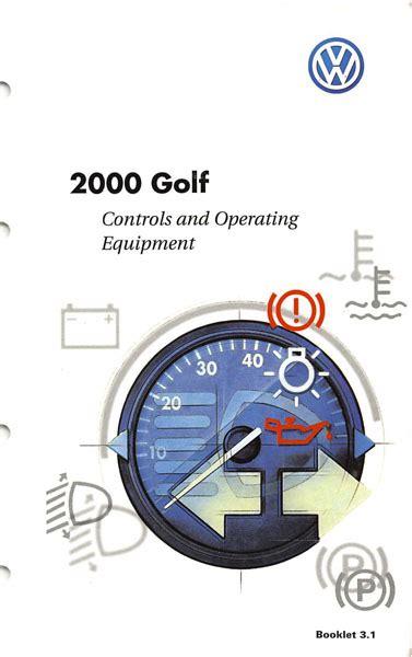 repair voice data communications 2000 volkswagen golf user handbook 2000 volkswagen golf owners manual in pdf