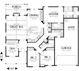 house plans 1 story single story homes on tile flooring 3 car