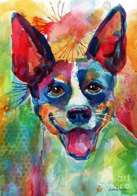 Australian Home Decor Blogs by Whimsical Rat Terrier Dog Painting Painting By Svetlana