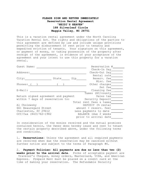 printable lease agreement nc house lease agreement template house rental agreement