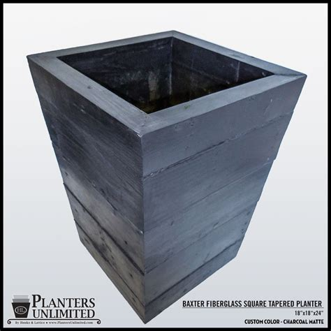 Concrete Square Planter by Lightweight Concrete Planters Tapered Square Planters