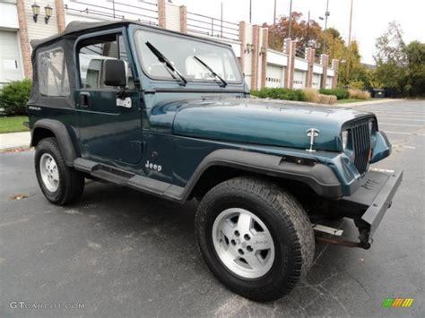 1995 Jeep Wrangler Green Emerald Green Pearl 1995 Jeep Wrangler S 4x4 Exterior
