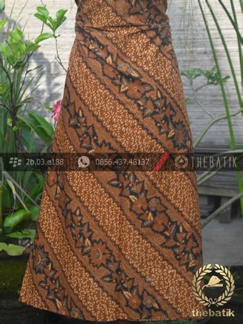 Hem Kemeja Kembang Sogan jual kain batik motif parang seling kembang