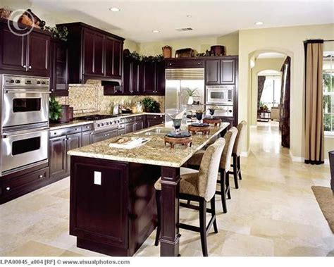 dark wood kitchen ideas contemporary kitchen with dark wood cabinets lpa00045