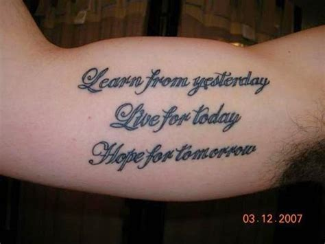 men quote tattoos top 10 quotes quotesgram