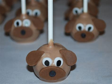 puppy pops puppy cake pops nutmeg confections baking ideas