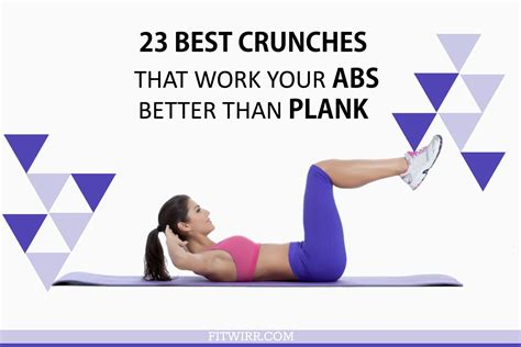 best crunches 23 best crunches that work your abs harder than plank