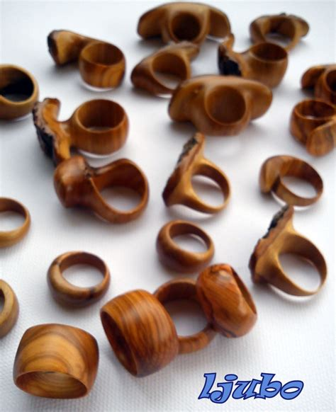 Handmade Wooden Jewellery - handmade olive wood rings hobby olives