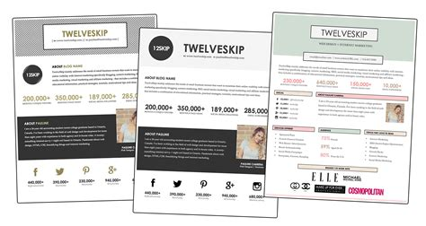 free media kit template review media kit templates from hip media kits