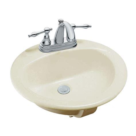 bone colored bathroom sinks glacier bay aragon round drop in bowl bathroom sink in