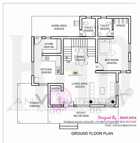 square meters house floor plan plans ground foot 200