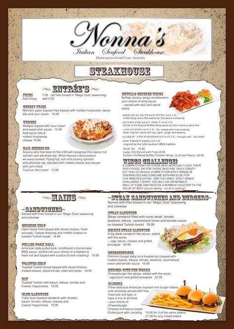 design my menu menu design for local restaurant nonna s my own graphic