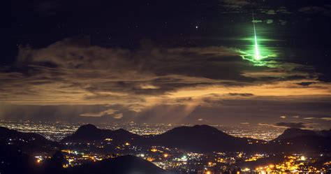 green light in the sky 2017 a brilliant green meteor lights up india s sky islands