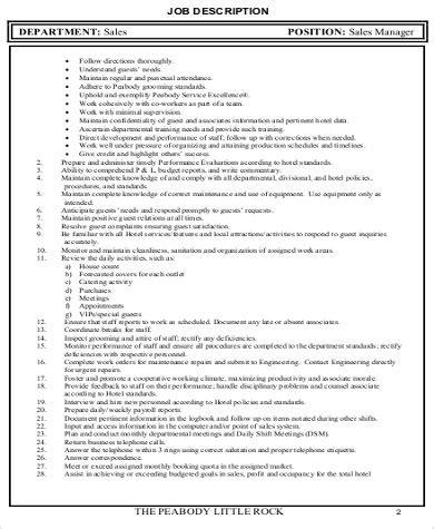 sales and marketing description 7 sales marketing executive description sles