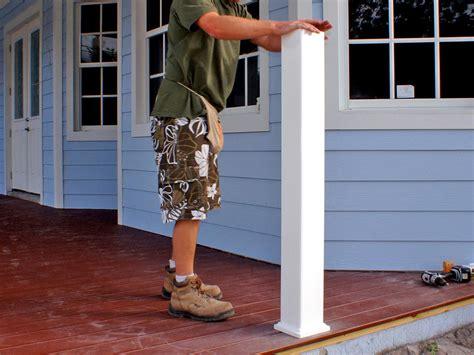 porch posts and columns hgtv how to install a porch railing hgtv