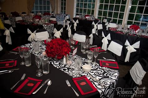 Fall Table Decorations For Wedding Receptions - modern black red white centerpiece centerpieces indoor reception place settings restaurant